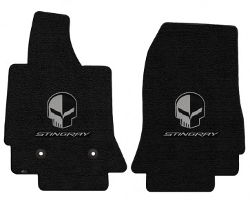 "Corvette Stingray ""Jake"" 2 Pc. Ultimat™ Floor Mat Set - Jet (2014 & up)"
