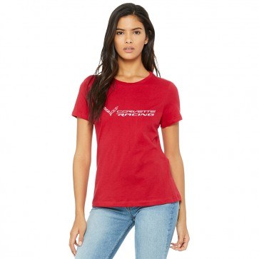 Corvette Racings Ladies Tee | Race Red