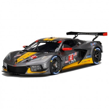 1:18 Scale Corvette | C8.R #4  Silver/Yellow