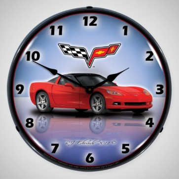 "Corvette C6 Profile | 14"" LED Backlit Clock 