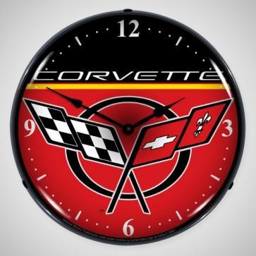 "Corvette C5 | 14"" LED Backlit Clock"