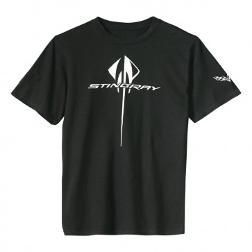C7 Vertical Stingray Tee | Black