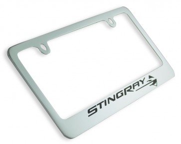 Corvette Stingray Chrome License Frame