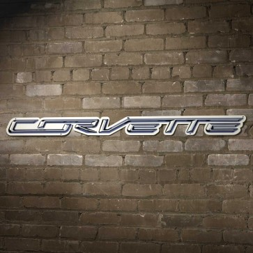 "Corvette Script Steel Sign | 32"" x 3"""