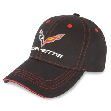 C7 Stingray Patch Cap | Black/Red