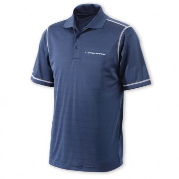 Corvette Tonal Stripe Polo - Navy/White