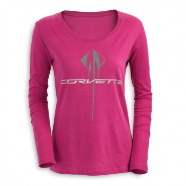 Corvette Long Sleeve | Glitter Tee - Raspberry