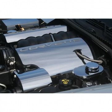 Corvette C6 Polished Fuel Rail Covers - 2005-2007