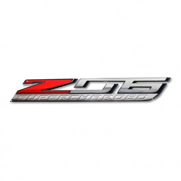 "Corvette ""Z06 Supercharged"" Metal Sign - 35"" x 5"""