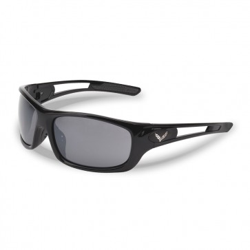 C7 Crossed Flags Gloss Black Full Frame Sunglasses
