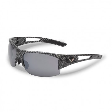 C7 Crossed Flags Carbon Fiber Rimless Sunglasses