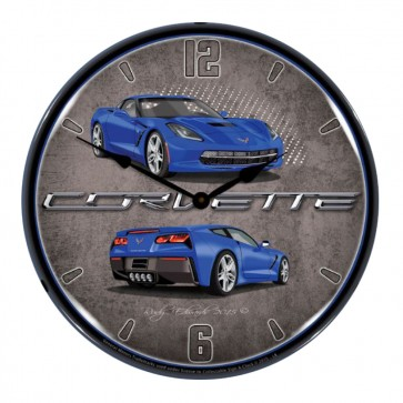 "Corvette C7 Stingray | 14"" LED Backlit Clock | 10 Color Options"