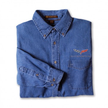 Corvette C6 Denim Shirt | Light Denim