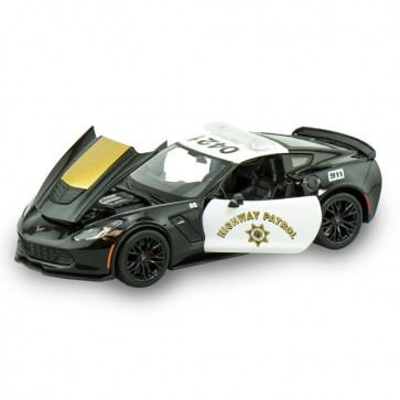 1:24 Scale Corvette Z06 | Highway Patrol Die Cast