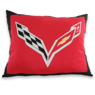C7 Crossed Flags Decorative Pillow
