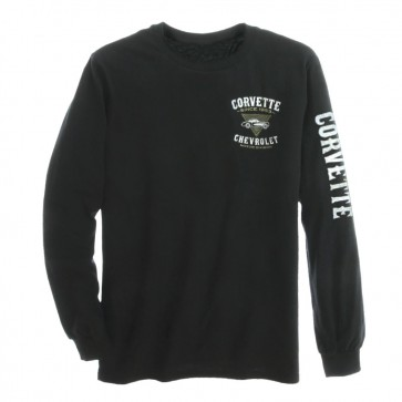 1953 Corvette Long Sleeve Tee - Black