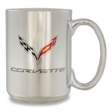 Ceramic Silver 15 oz Mug | Silver