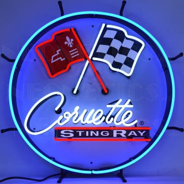 Corvette C2 Stingray | Round Neon Sign
