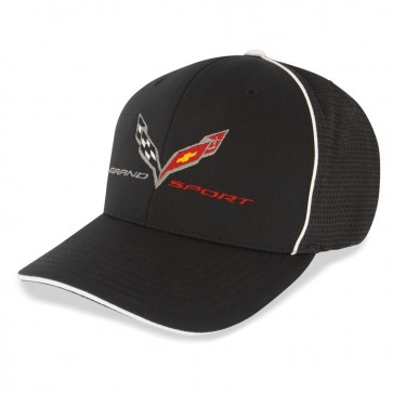 Grand Sport Crossed Flags Flexfit Cap - Black/White
