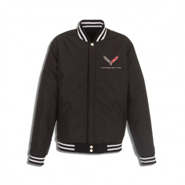C7 Reversible Varsity Jacket | Black/White