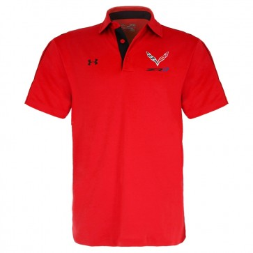 Under Armour® ZR1 | Tech Polo - Red/Black
