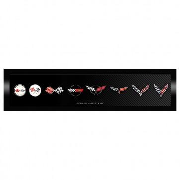 Corvette Generation Emblem   Framed Canvas Print