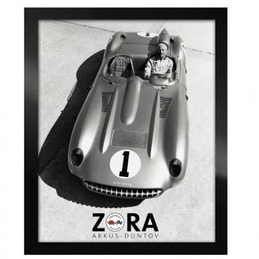 Corvette Zora Black & White | Framed Canvas Print