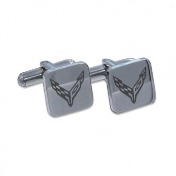 C8 Corvette Polished | Stainless Steel Cufflinks
