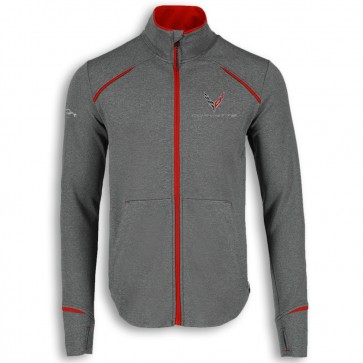 2020 Corvette | Fleece Jacket - Gray/Red