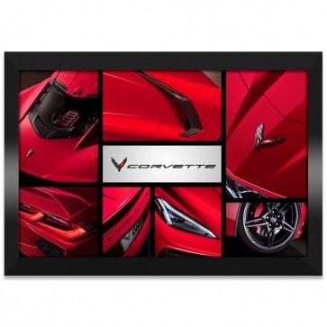 C8 Corvette Collage | Framed Canvas Print