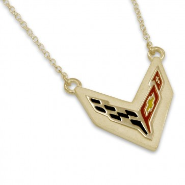 C8 Corvette 14k Yellow Gold | Cable Chain Necklace