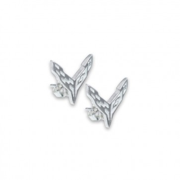 C8 Corvette Sterling Silver | Post Earrings