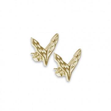 C8 Corvette 14k Yellow Gold | Post Earrings