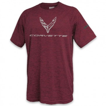 C8 Performance Tee | Maroon