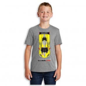Corvette Racing Youth Tee | C8.R Overhead Profile