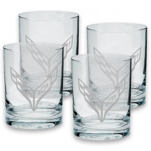 C8 Corvette Rocks Glasses | Set of 4 - 13.5 oz.
