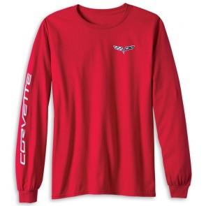 C6 Corvette Long Sleeve Tee   Red