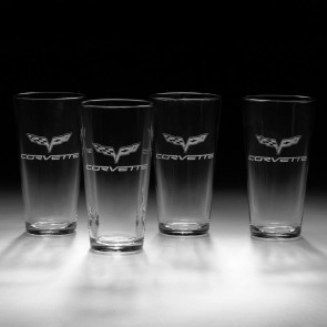 C6 Crossed Flags Glassware | Glass