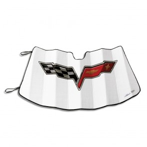 C6 Corvette Sun Shield | White