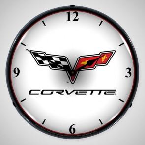 "Corvette C6 | 14"" LED Backlit Clock"
