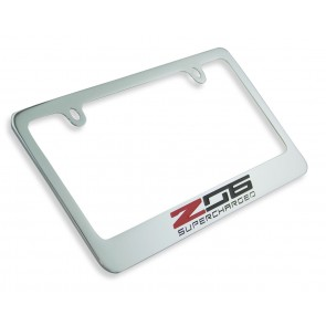 Z06 Supercharged License Plate Frame - Chrome