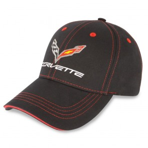 C7 Stingray Patch Cap | Black/Red