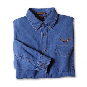 Corvette C7 Denim Shirt | Light Denim