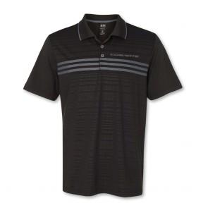 Stingray Three-Stripe Polo by Adidas - Black/Silver