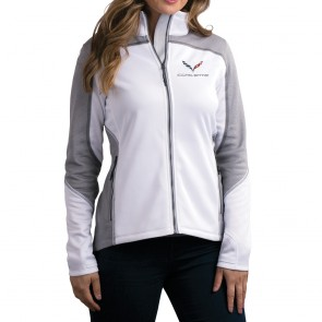 C7 Corvette Knit Jacket | White/Heather Gray