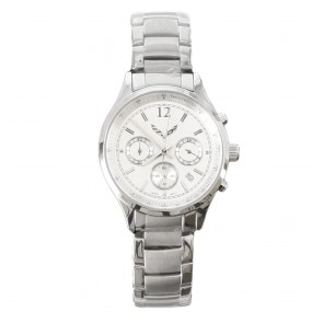 Ladies Silver | Chronograph Watch