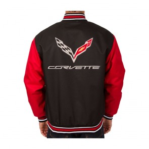 C7 Varsity Jacket | Black/Red
