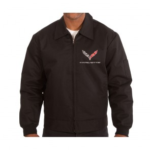 C7 Crossed Flags Jacket | Black