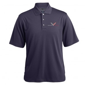 Grand Sport Horizontal Stripe Polo - Charcoal Heather