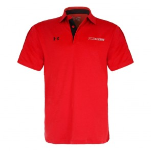 Under Armour® Z06 | Tech Polo - Red/Black